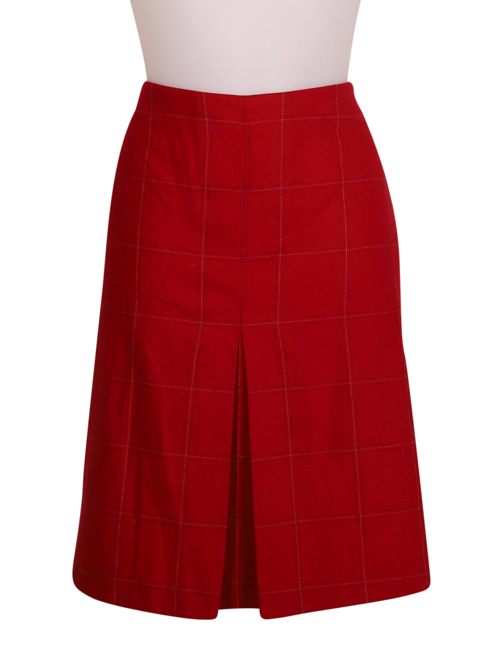 Front photo of Preloved Stefanel Red Woman's skirt - size 10/M