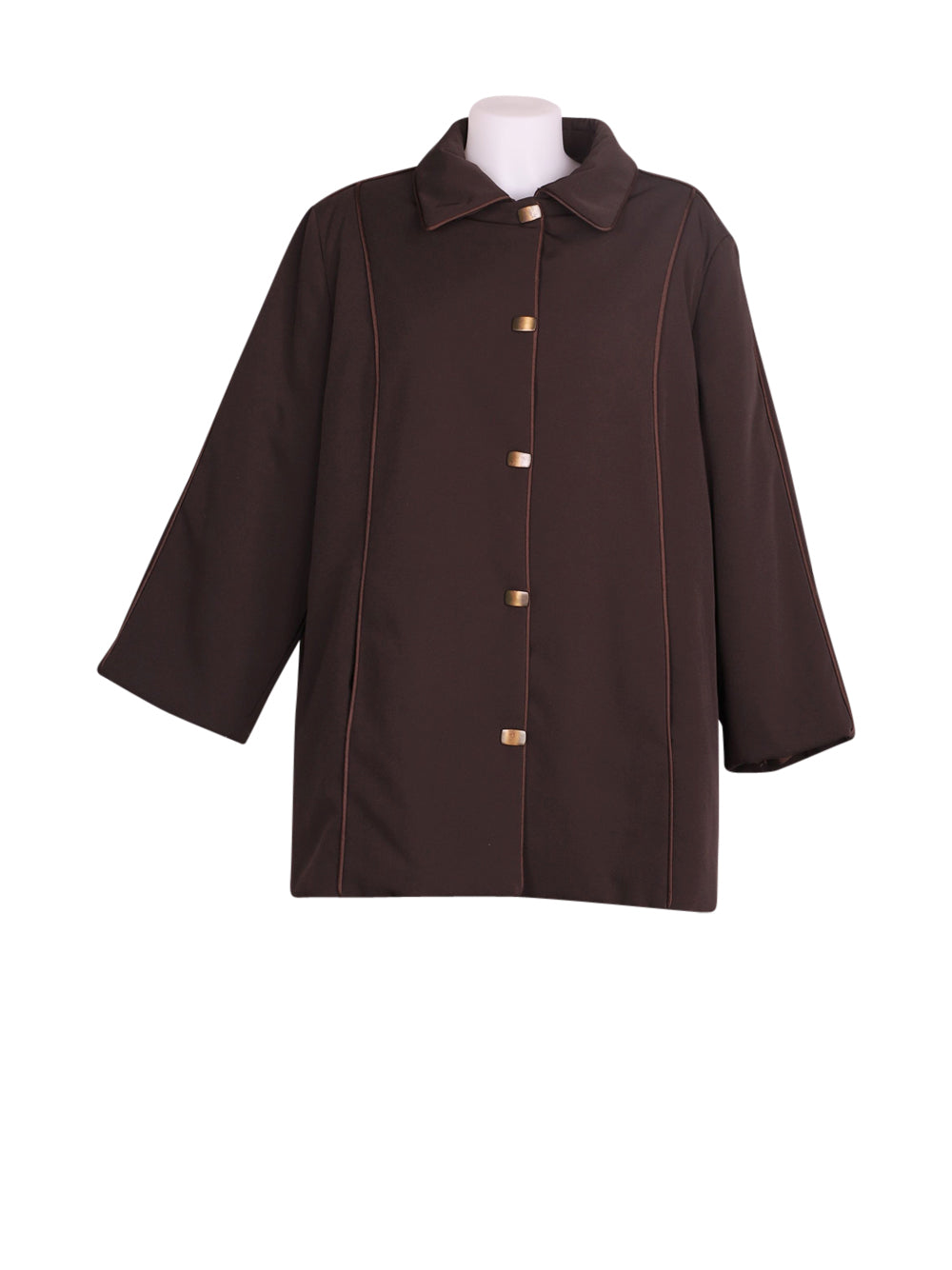Front photo of Preloved Anna Linder Brown Woman's jacket - size 12/L