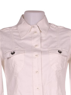 Detail photo of Preloved Esprit White Woman's shirt - size 8/S