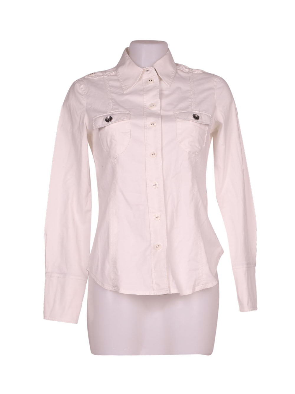 Front photo of Preloved Esprit White Woman's shirt - size 8/S