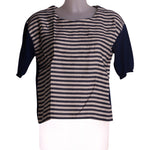 Front photo of Preloved Gold Case Blue Woman's t-shirt - size 10/M