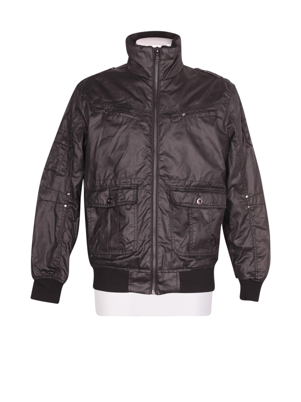 Front photo of Preloved Smog Black Man's jacket - size 40/L