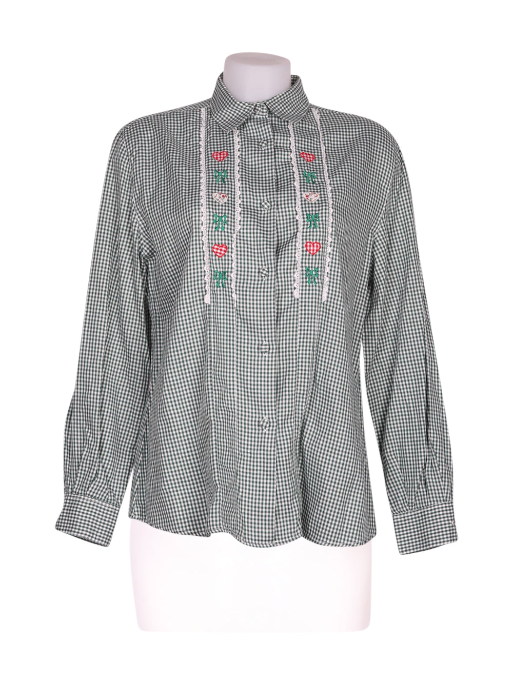 Front photo of Preloved oblique Green Woman's shirt - size 12/L