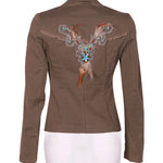 Back photo of Preloved Rinascimento - Made In Italy Beige Woman's blazer - size 10/M