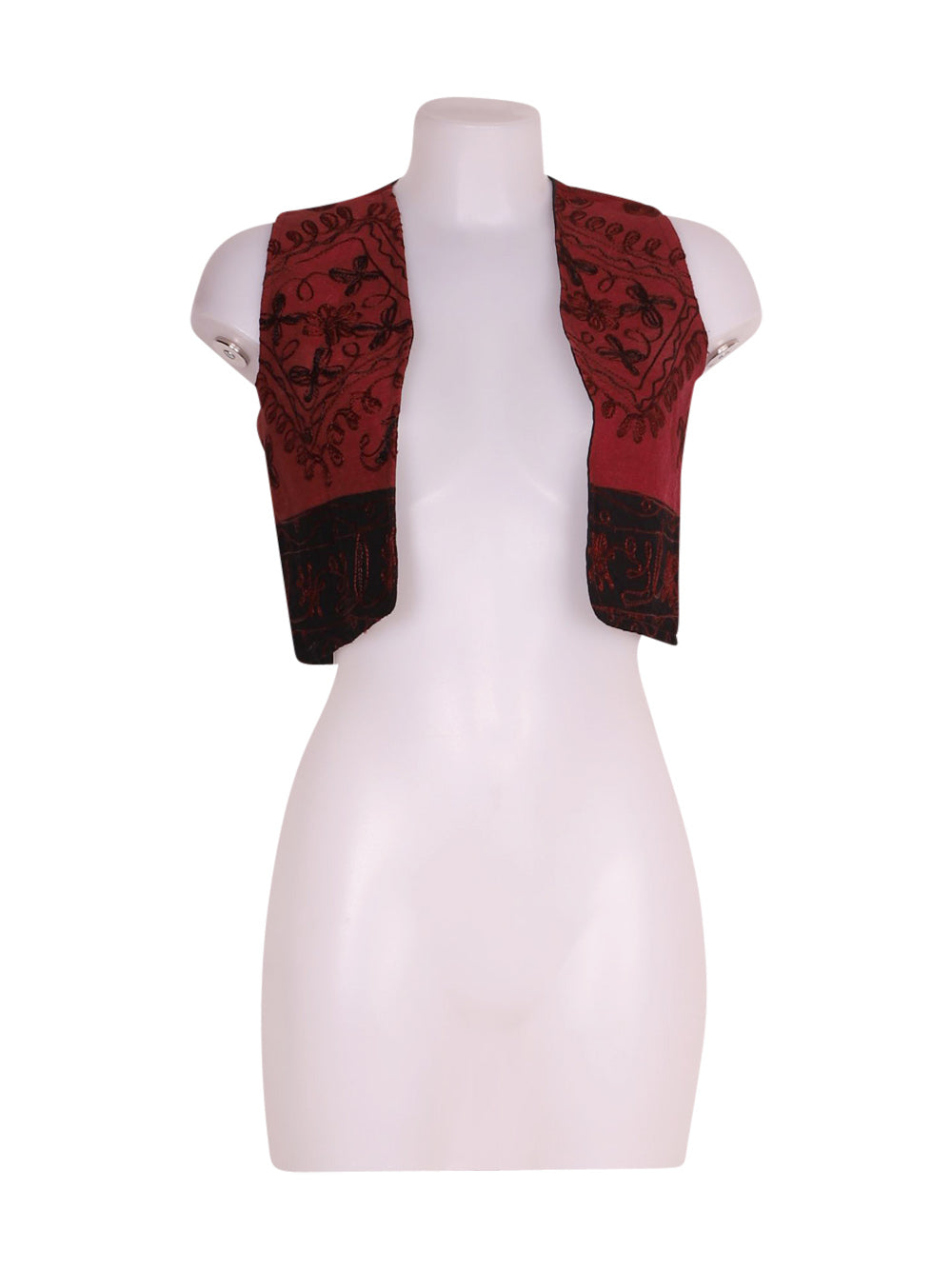 Front photo of Preloved Panda Bordeaux Woman's waistcoat - size 8/S