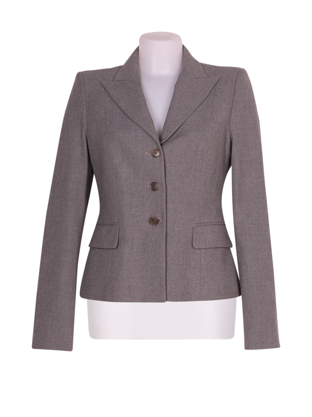 Front photo of Preloved Sisley Grey Woman's blazer - size 10/M