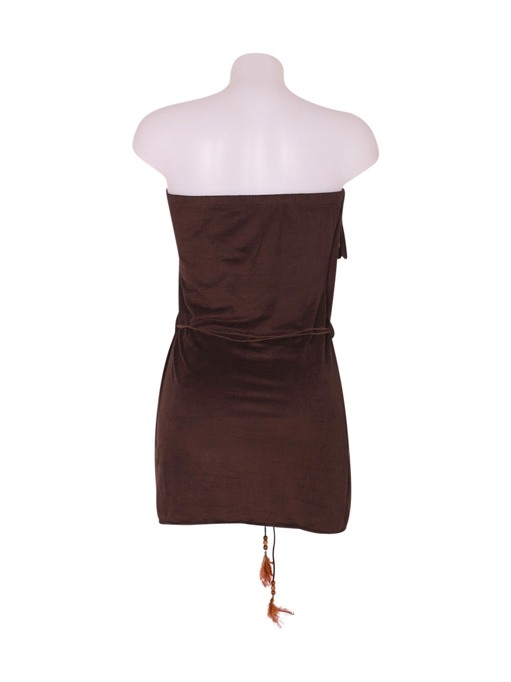 Back photo of Preloved unbra Brown Woman's dress - size 6/XS