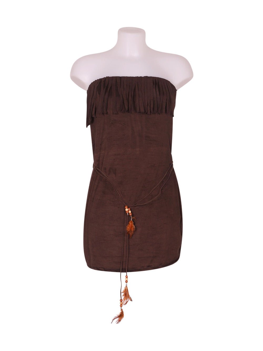 Front photo of Preloved unbra Brown Woman's dress - size 6/XS