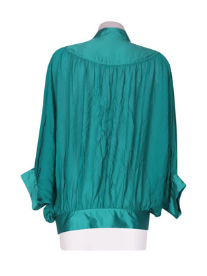 Back photo of Preloved Silvian Heach Green Woman's shirt - size 8/S