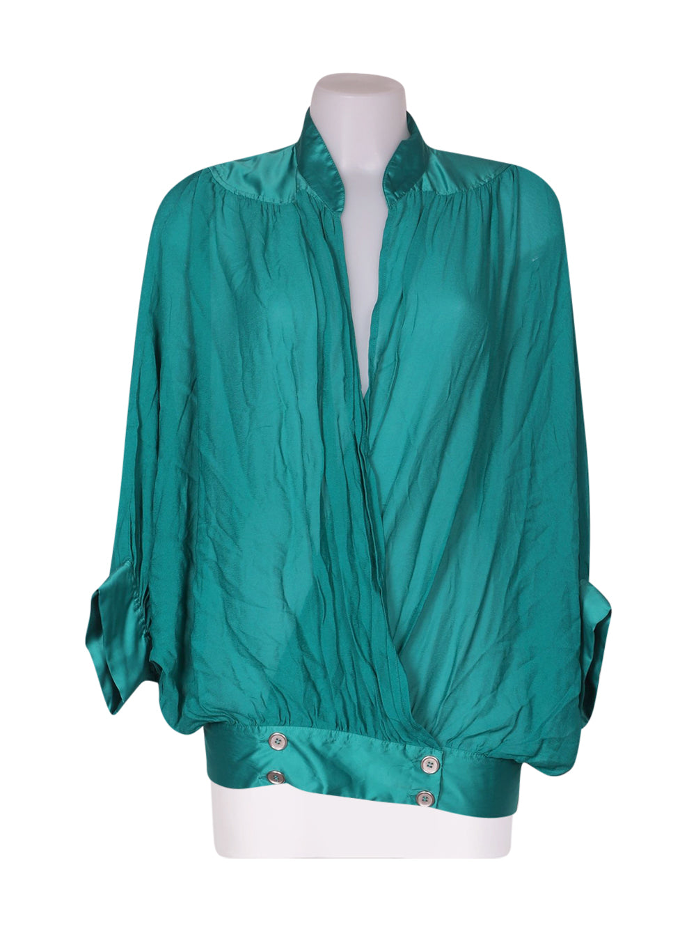 Front photo of Preloved Silvian Heach Green Woman's shirt - size 8/S