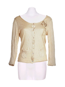 Front photo of Preloved Rich&Royal Beige Woman's cardigan - size 12/L