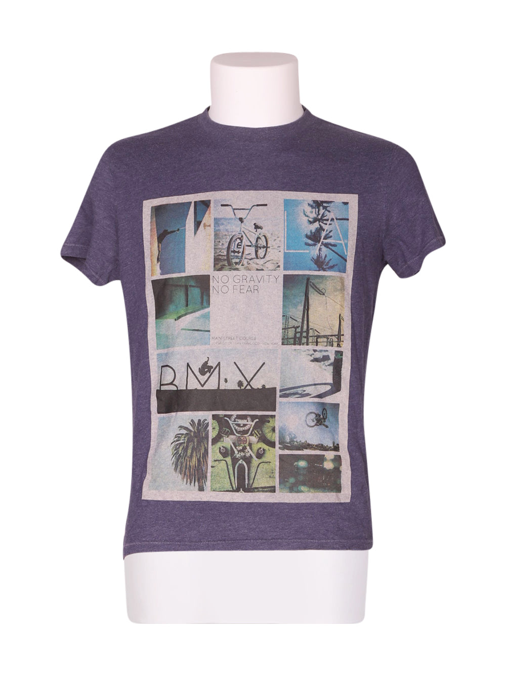 Front photo of Preloved Grand & Hills Blue Man's t-shirt - size 36/S
