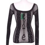 Back photo of Preloved Exté Black Woman's long sleeved shirt - size 8/S