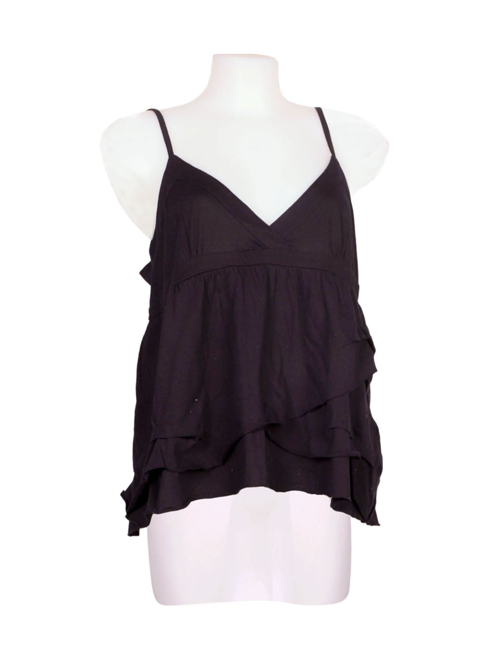Front photo of Preloved Naf Naf Black Woman's sleeveless top - size 12/L