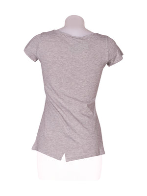 Back photo of Preloved MTV Grey Woman's t-shirt - size 8/S