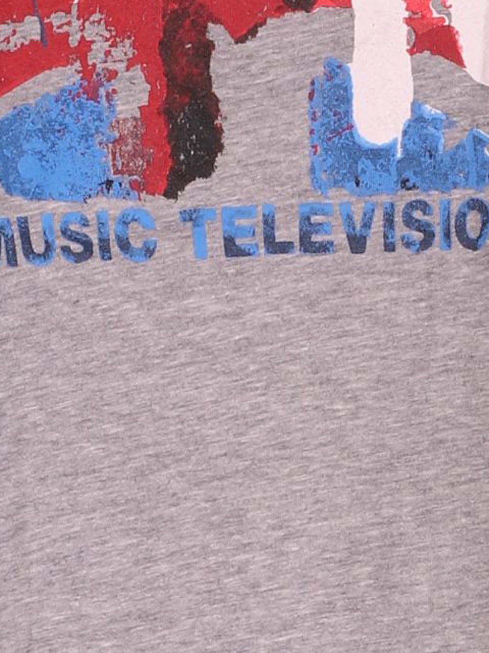 Detail photo of Preloved MTV Grey Woman's t-shirt - size 8/S