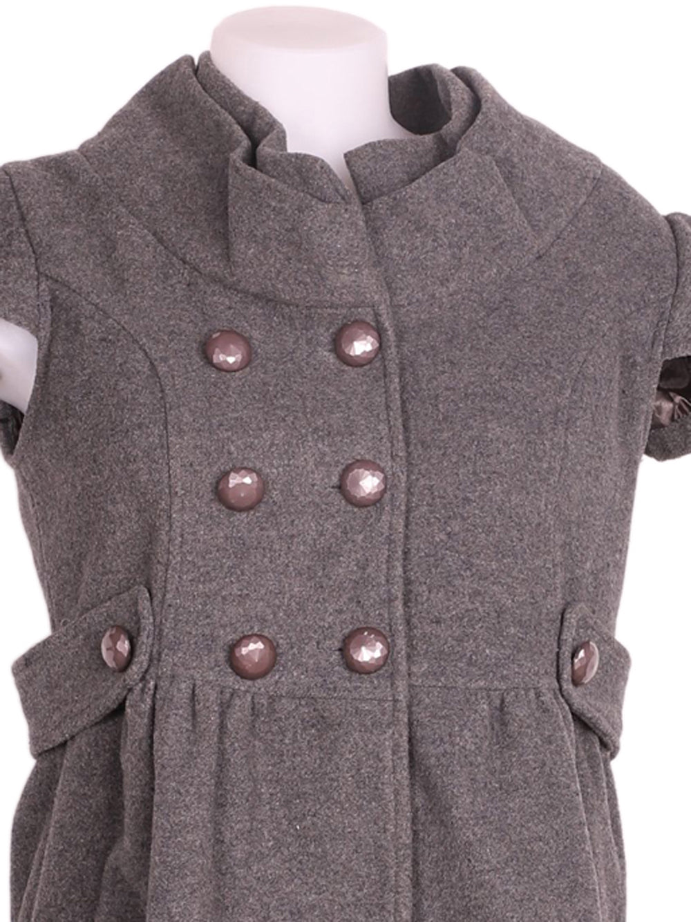 Detail photo of Preloved TSega Grey Woman's sleeveless jacket - size 10/M