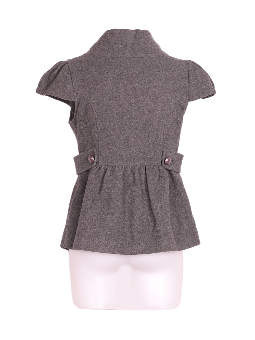 Back photo of Preloved TSega Grey Woman's sleeveless jacket - size 10/M