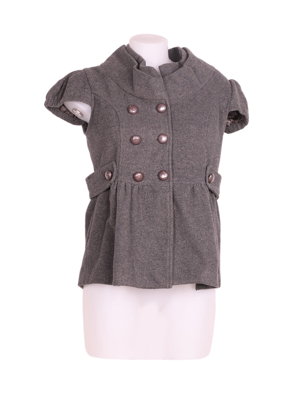 Front photo of Preloved TSega Grey Woman's sleeveless jacket - size 10/M