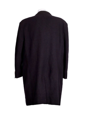 Back photo of Preloved sartoria del borgo Black Man's coat - size 42/XL