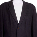 Detail photo of Preloved sartoria del borgo Black Man's coat - size 42/XL