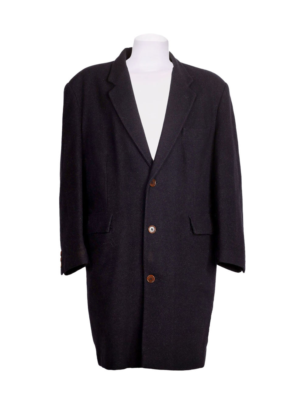 Front photo of Preloved sartoria del borgo Black Man's coat - size 42/XL