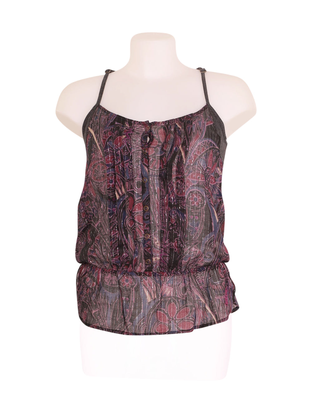 Front photo of Preloved Billabong Violet Woman's sleeveless top - size 8/S