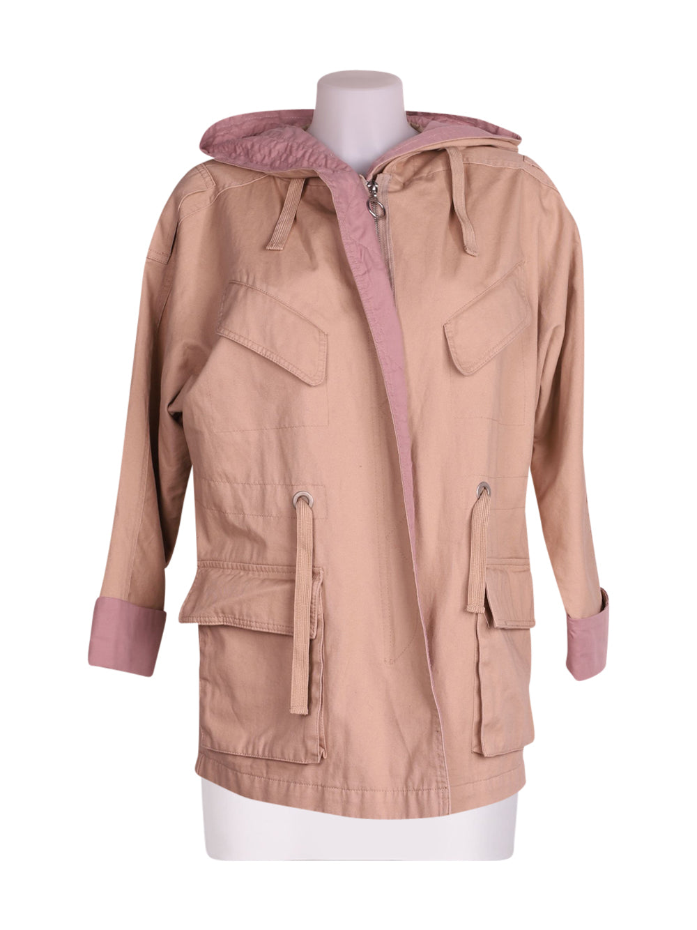 Front photo of Preloved Asos Beige Woman's jacket - size 4/XXS