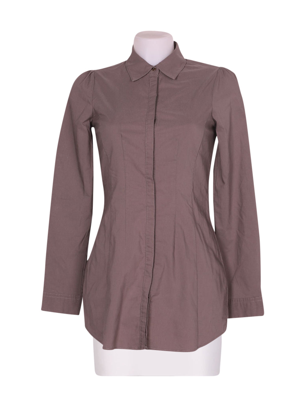 Front photo of Preloved Sisley Grey Woman's shirt - size 8/S
