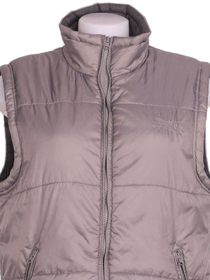 Detail photo of Preloved Everlast Grey Woman's sleeveless winter coat - size 12/L