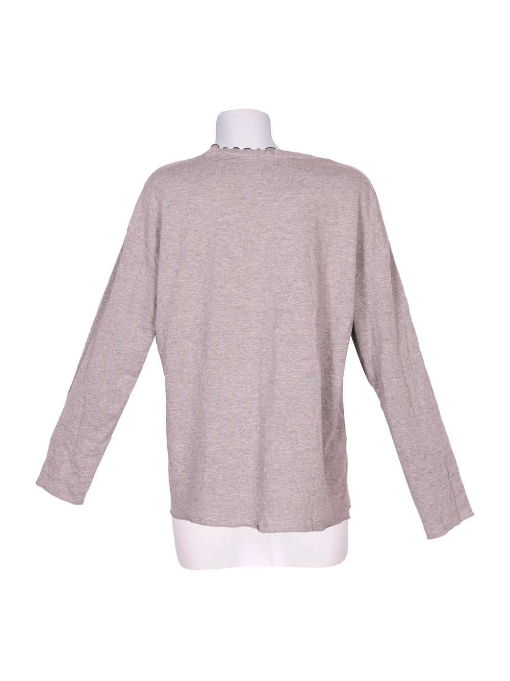 Back photo of Preloved Trf-Trafaluc (Zara) Grey Woman's long sleeved shirt - size 12/L