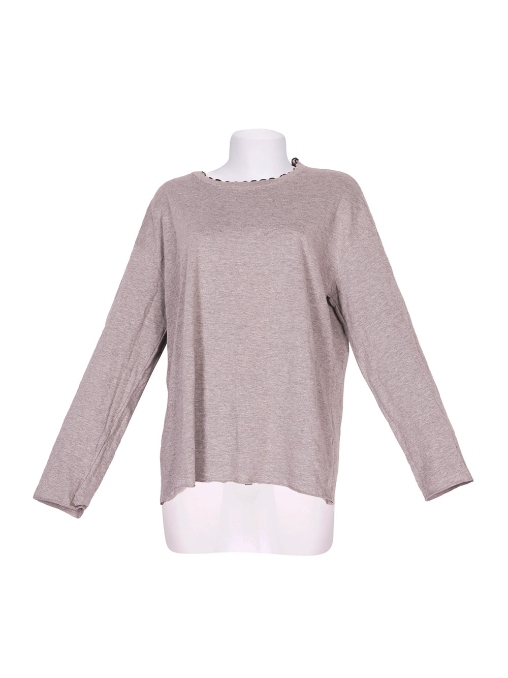 Front photo of Preloved Trf-Trafaluc (Zara) Grey Woman's long sleeved shirt - size 12/L