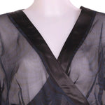 Detail photo of Preloved tcm Blue Woman's bolero - size 18/XXXL