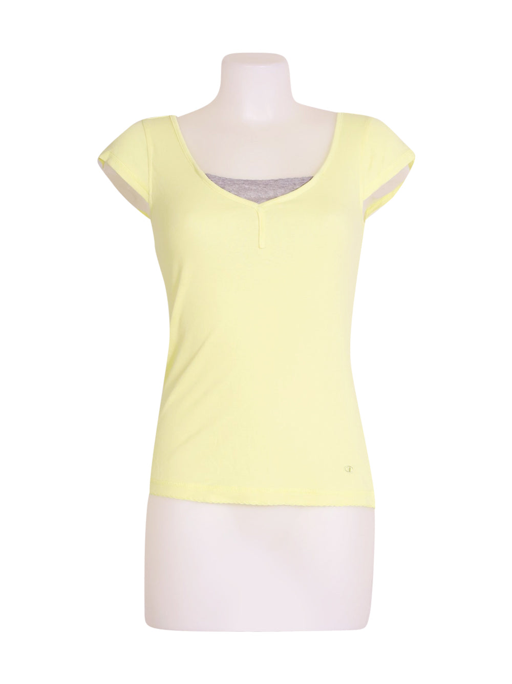 Front photo of Preloved Champion Yellow Woman's t-shirt - size 8/S