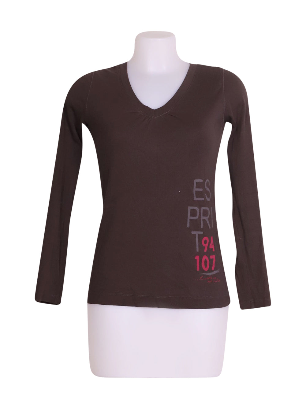 Front photo of Preloved Esprit Brown Woman's long sleeved shirt - size 10/M