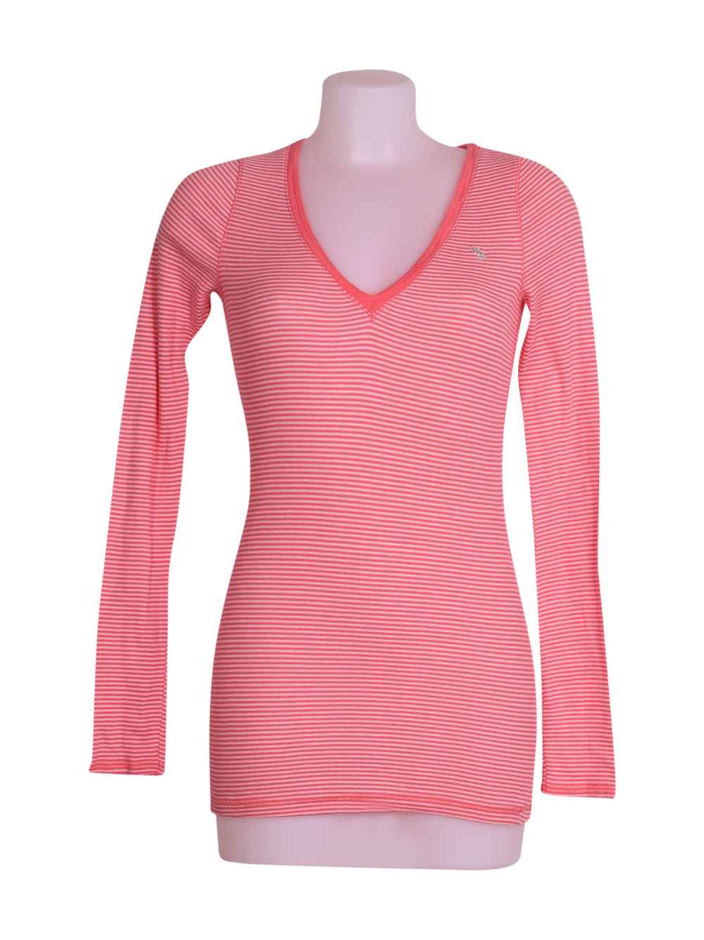 Front photo of Preloved Abercrombie&Fitch Pink Woman's long sleeved shirt - size 12/L