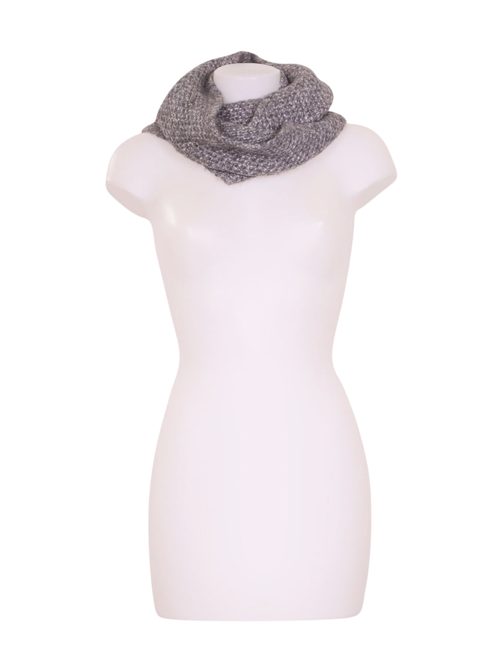 Front photo of Preloved Sisley Grey Woman's scarf - size one-size