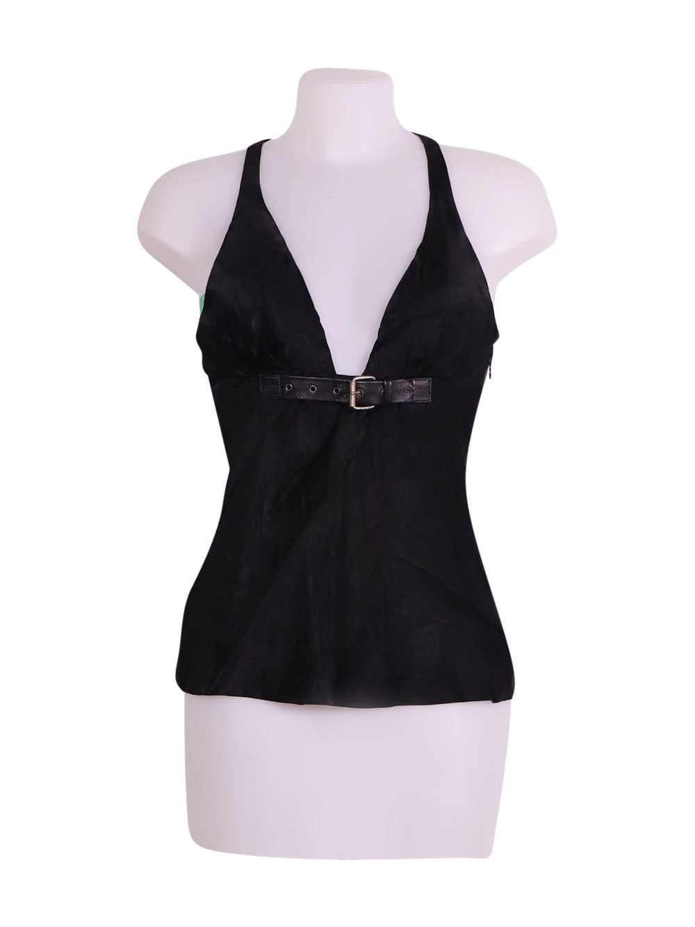 Front photo of Preloved Miss Sixty Black Woman's sleeveless top - size 10/M