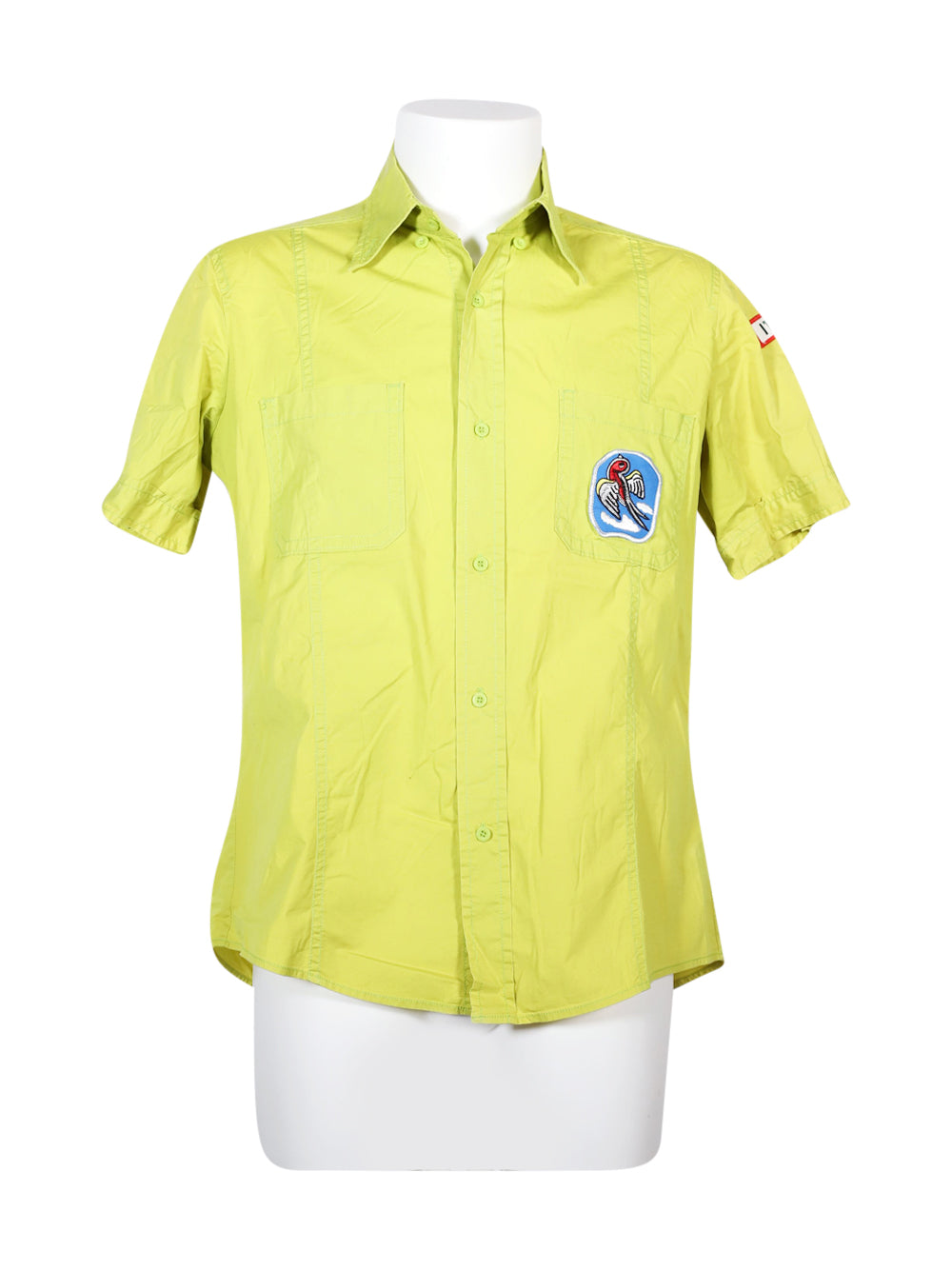 Front photo of Preloved rizard Green Man's shirt - size 42/XL