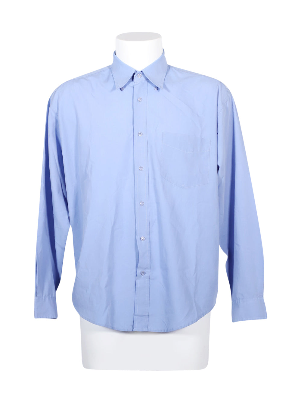 Front photo of Preloved robert fieldman Light-blue Man's shirt - size 42/XL