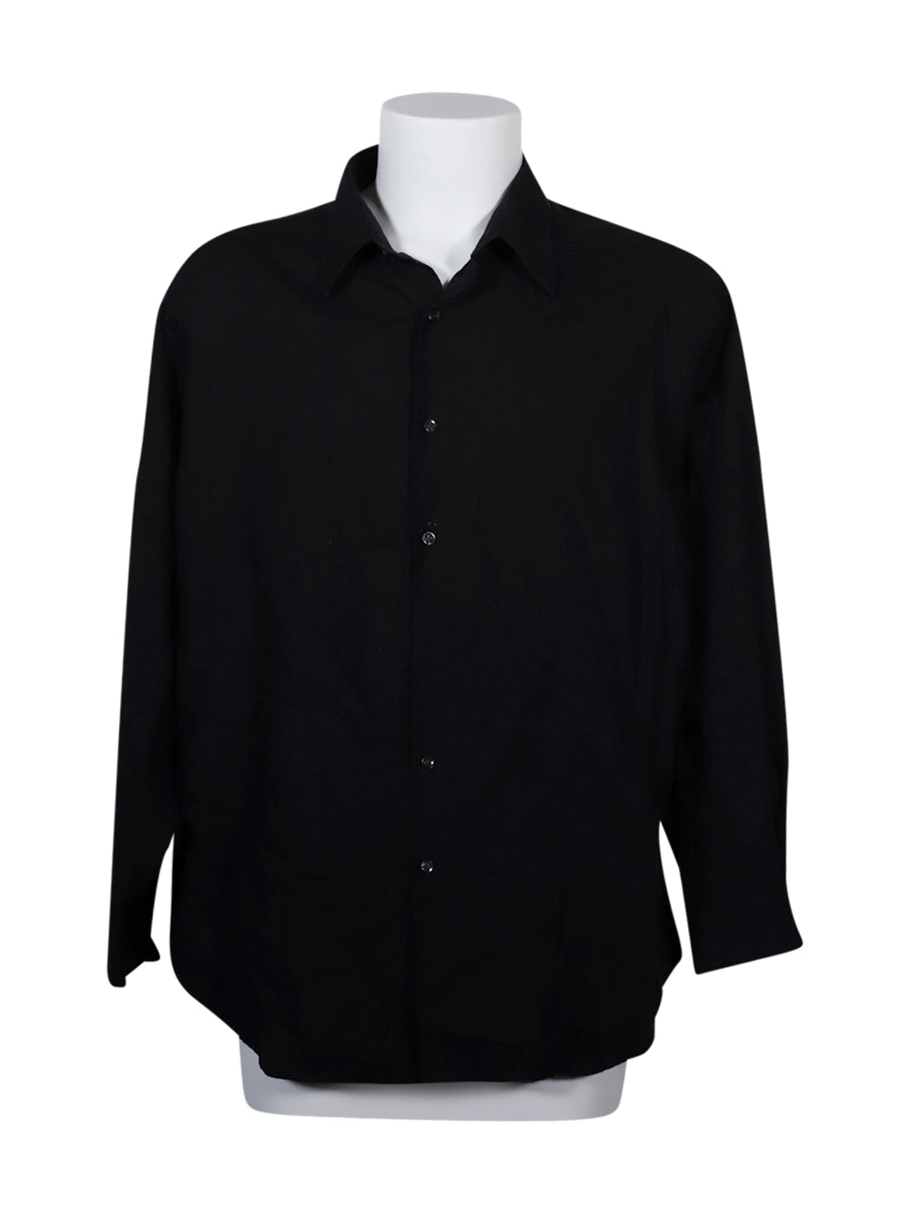 Front photo of Preloved Perry Ellis Black Man's shirt - size 44/XXL