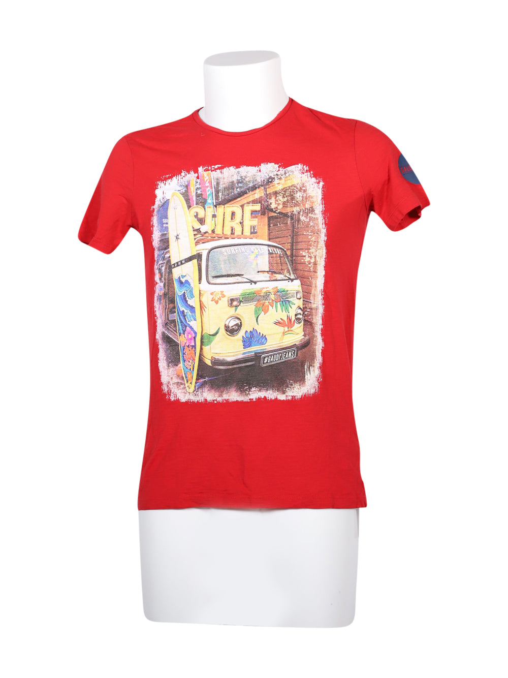 Front photo of Preloved Gaudì Red Man's t-shirt - size 36/S