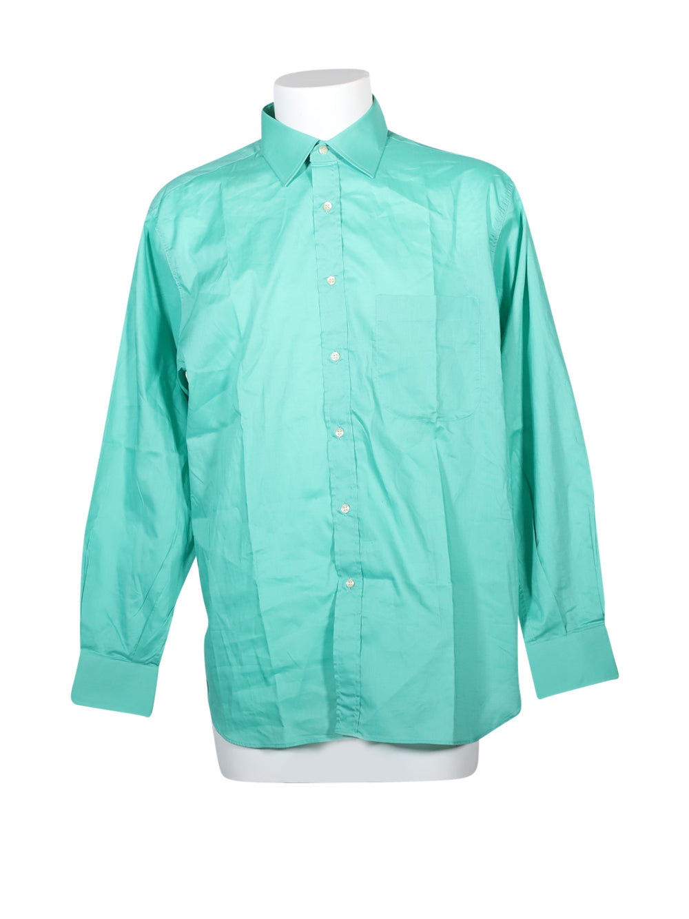 Front photo of Preloved Ingram Green Man's shirt - size 42/XL