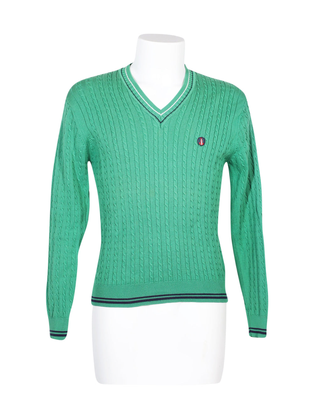 Front photo of Preloved BRAMANTE Green Man's sweater - size 38/M