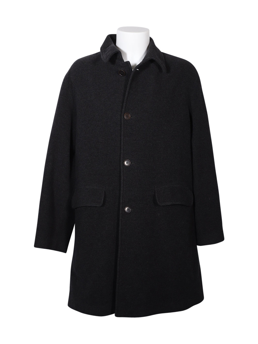 Front photo of Preloved Sisley Black Man's coat - size 40/L