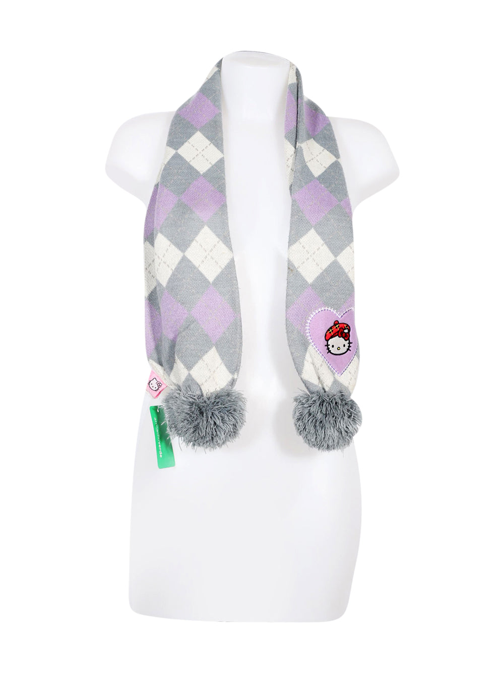 Front photo of Preloved Hello Kitty Grey Girl's scarf - size 6-7 yrs