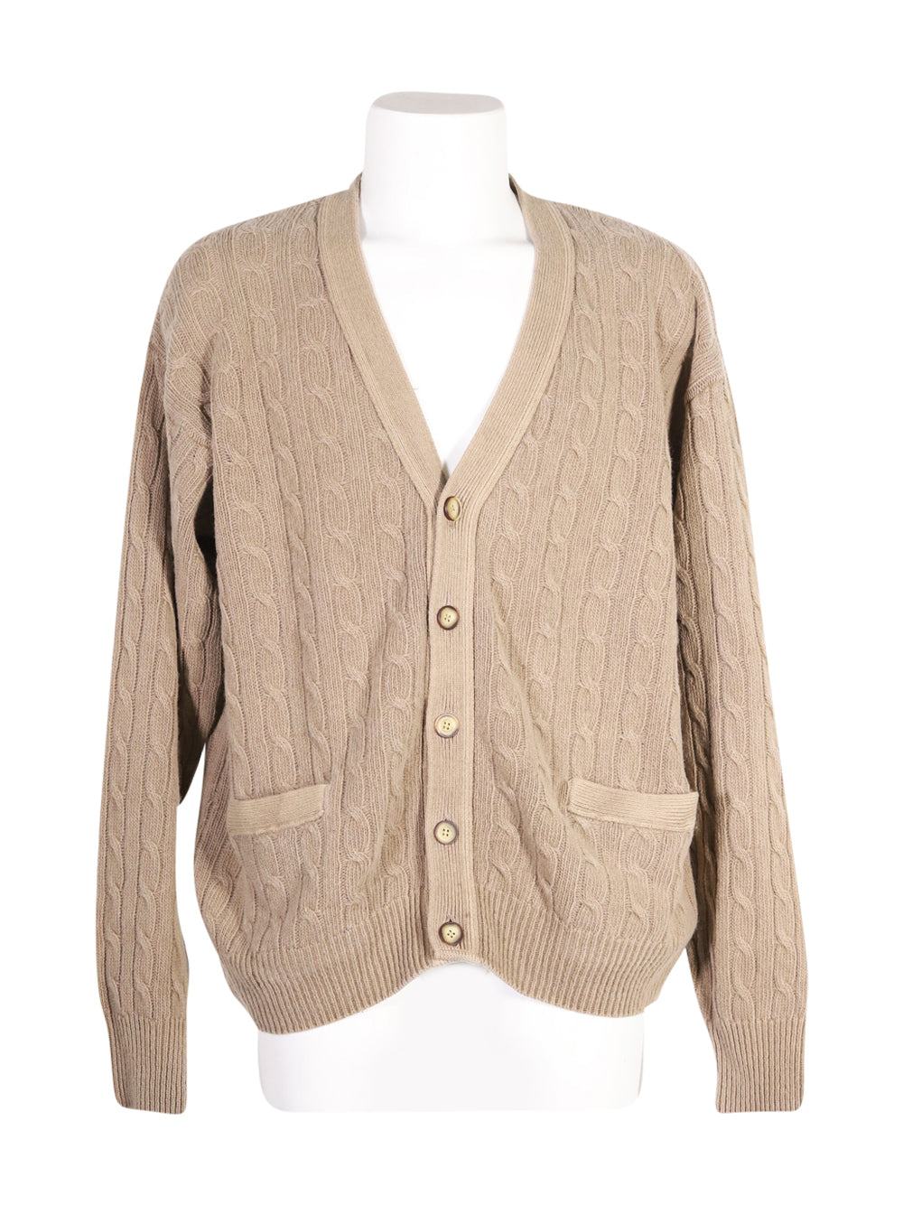 Front photo of Preloved wool & co Brown Man's cardigan - size 38/M