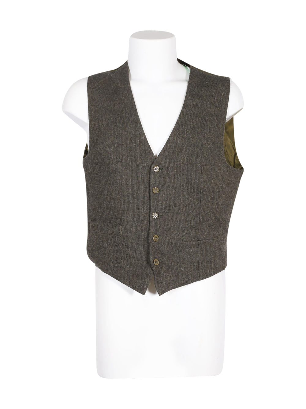Front photo of Preloved nuccio d'ottavio sarto Green Man's waistcoat - size 40/L