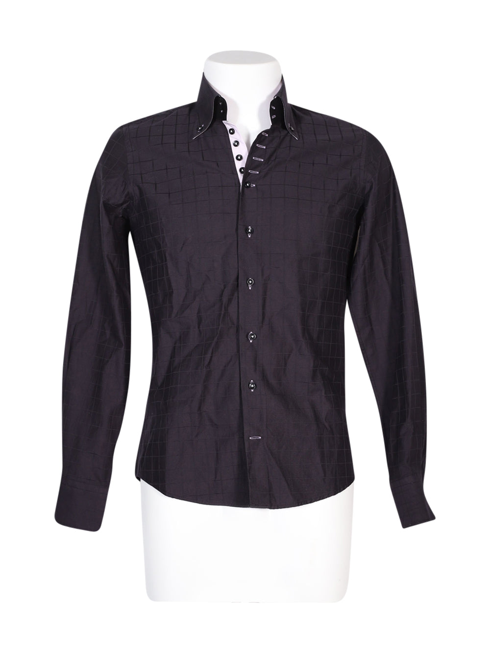 Front photo of Preloved 7 Camicie Black Man's shirt - size 36/S