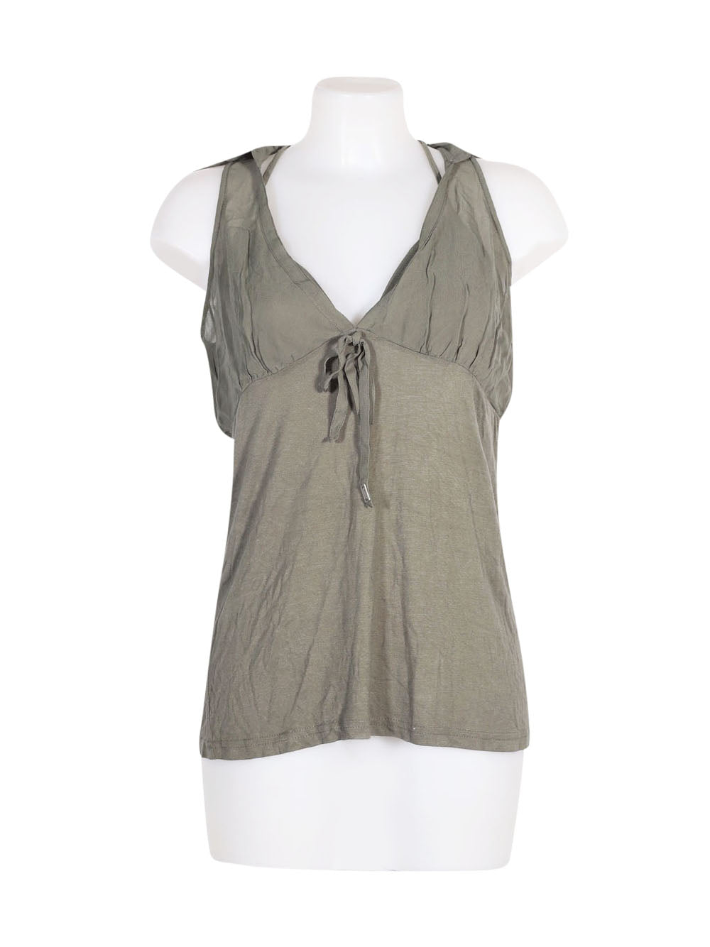 Front photo of Preloved Miss Sixty Green Woman's sleeveless top - size 12/L